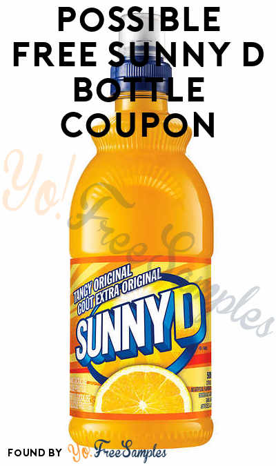 Possible FREE Full-Size Sunny D Bottle Coupon