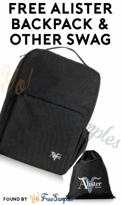 FREE Alister Backpack & Other Swag