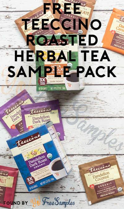 FREE Teeccino Herbal Tea Sample Pack