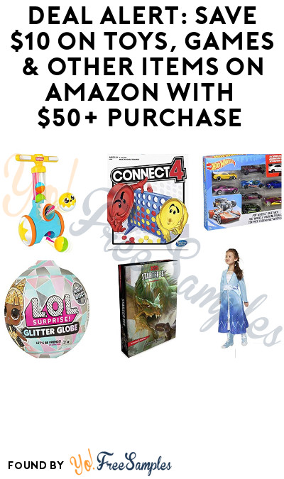 DEAL ALERT: Save $10 on Toys, Games & Other Items on Amazon with $50+ Purchase