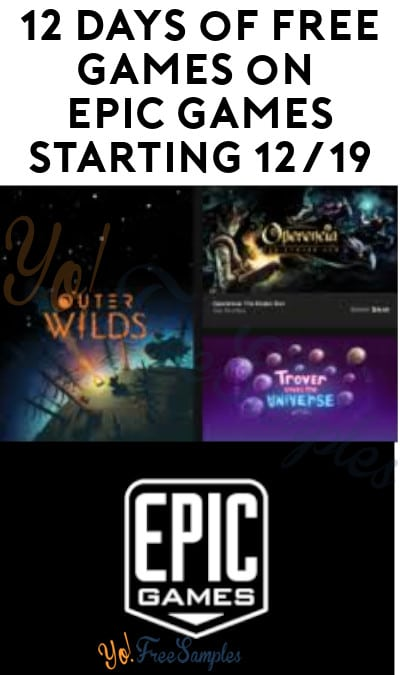 12 Days of FREE Games on Epic Games Starting 12/19