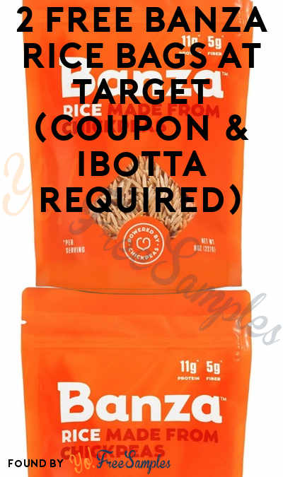 2 FREE Banza Rice Bags at Target (Coupon & Ibotta Required)