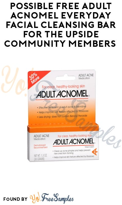 Possible FREE Adult Acnomel Everyday Facial Cleansing Bar for The Upside Community Members (Select Accounts)