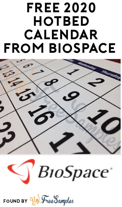 FREE 2020 Hotbed Calendar from BioSpace