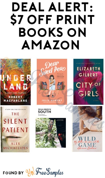 DEAL ALERT: $7 Off Print Books on Amazon (Code Required + Select Accounts Only)
