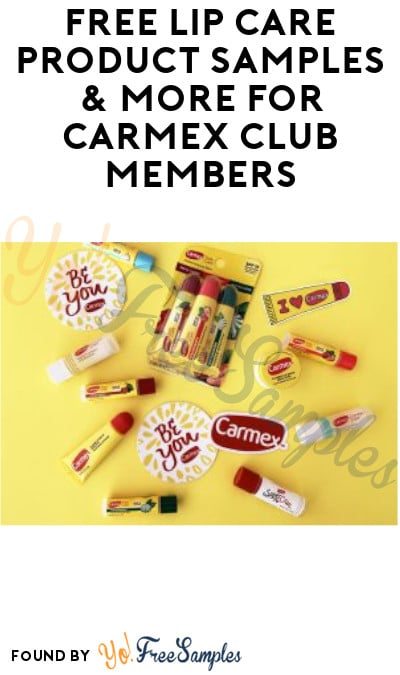 FREE Lip Care Product Samples & More for Carmex Club Members