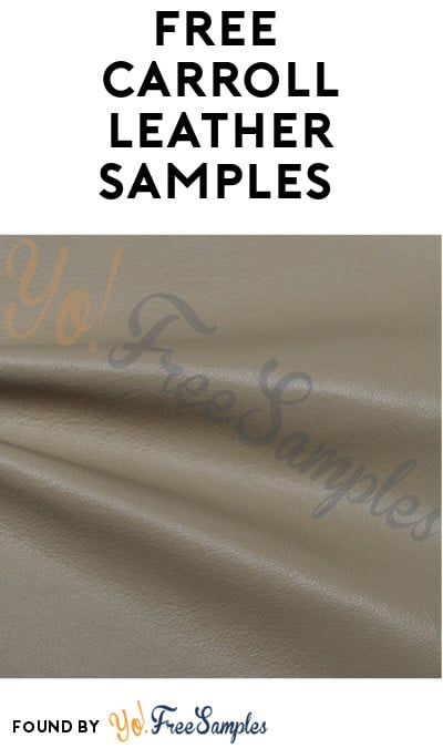 FREE Carroll Leather Samples