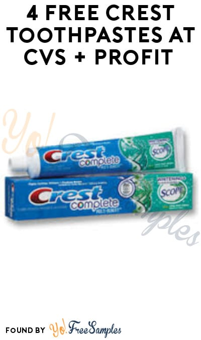 4 FREE Crest Toothpastes at CVS + Profit (App & Card Required)