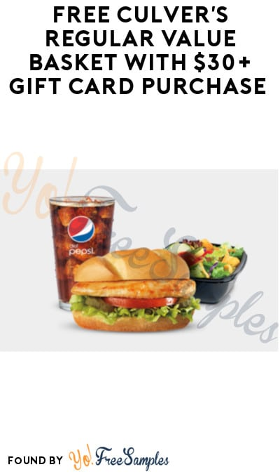 FREE Culver's Regular Value Basket with $30+ Gift Card Purchase
