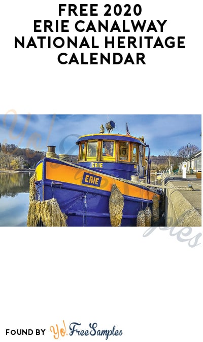 FREE 2020 Erie Canalway National Heritage Calendar (Pick Up + Mostly NY Locations Only)