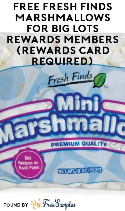 FREE Fresh Finds Marshmallows for Big Lots Rewards Members (Rewards Card Required)