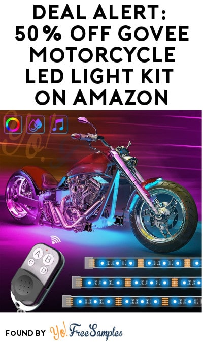DEAL ALERT: 50% Off Govee Motorcycle LED Light Kit on Amazon (Code Required)