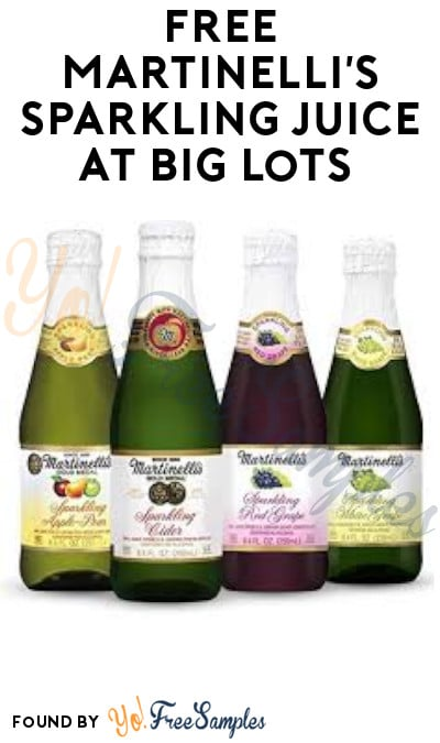 FREE Martinelli's Sparkling Juice at Big Lots (Rewards Card Required)