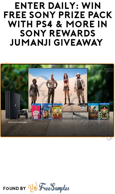 Enter Daily: Win FREE Sony Prize Pack with PS4 & More in Sony Rewards Jumanji Giveaway