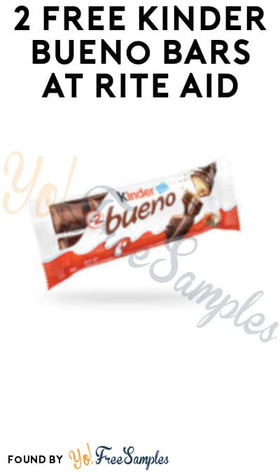 2 FREE Kinder Bueno Bars at Rite Aid (Wellness+ Required)