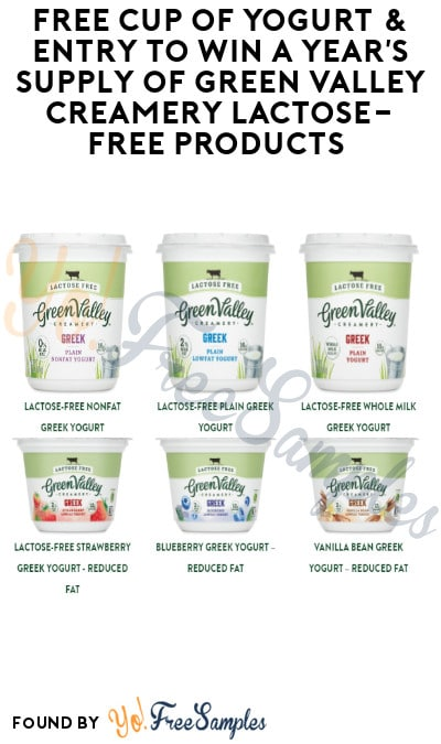 FREE Green Valley Yogurt Cup & Entry to Win a Year's Supply