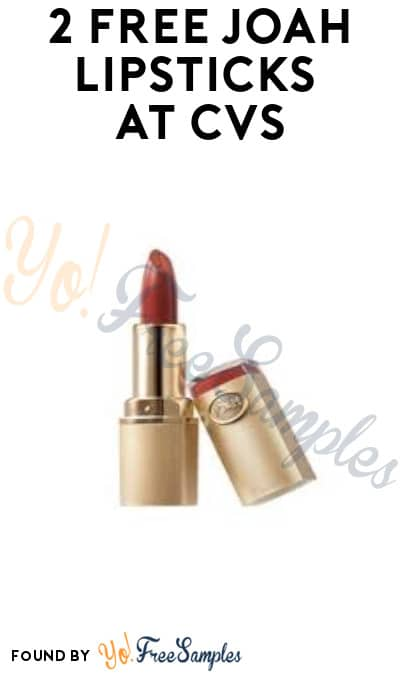 2 FREE JOAH Lipsticks at CVS (Rewards Card & Coupon Required)
