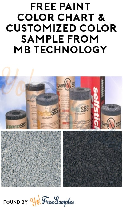 FREE Paint Color Chart & Customized Color Sample from MB Technology (Email Required or Mail-In Required)