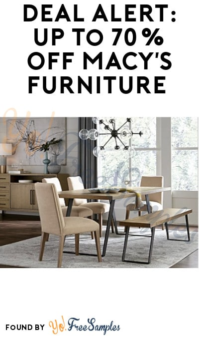 DEAL ALERT: Up to 70% Off Macy's Furniture Closeouts (Online Only)