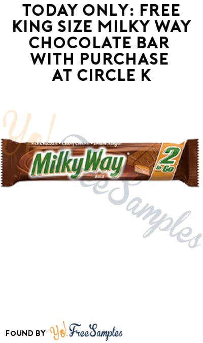 Today Only: FREE King Size Milky Way Chocolate Bar with Purchase at Circle K (App Required)