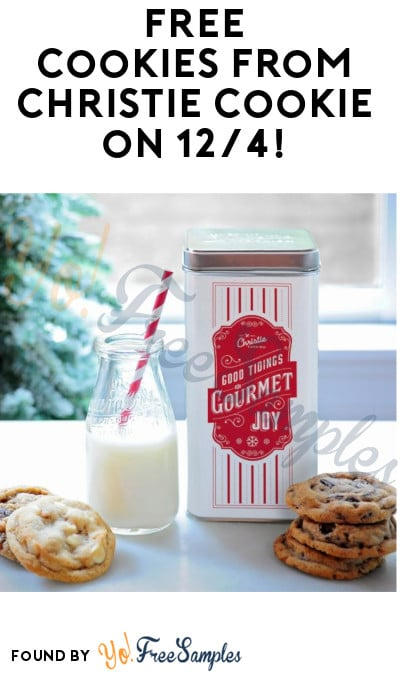 FREE Cookies from Christie Cookie on 12/4!