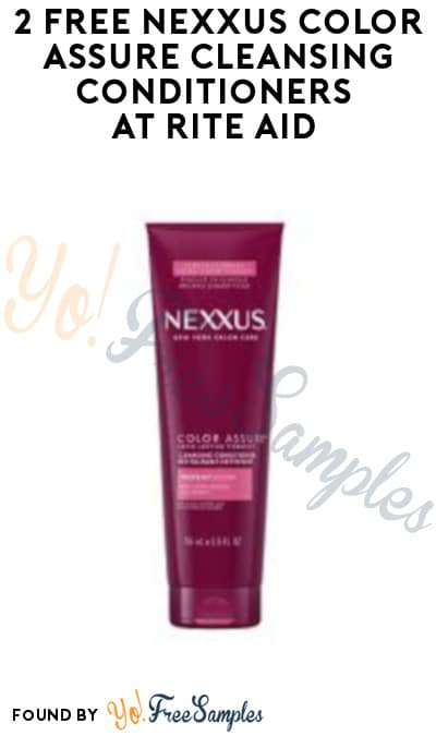 2 FREE Nexxus Color Assure Cleansing Conditioners at Rite Aid (Wellness+, Coupon & Clearance Price Required)