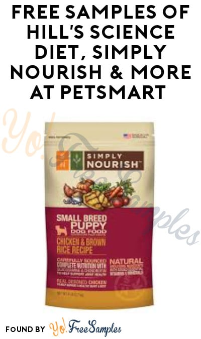 FREE Samples of Hill's Science Diet, Simply Nourish & More at PetSmart (1/4)