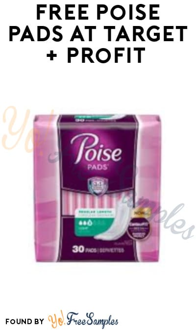 FREE Poise Pads at Target + Profit (Fetch Rewards & Coupon Required)