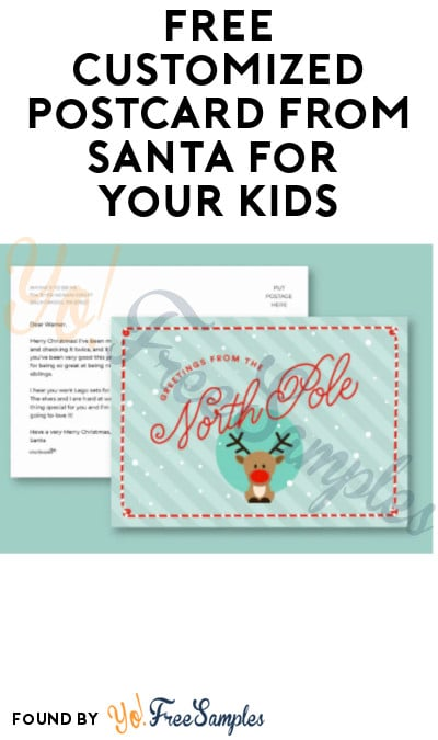 FREE Customized Postcard from Santa for Your Kids