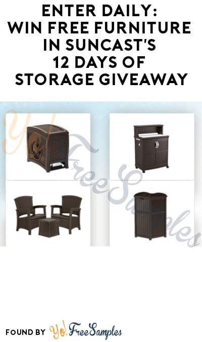 Enter Daily: Win FREE Furniture in Suncast's 12 Days of Storage Giveaway
