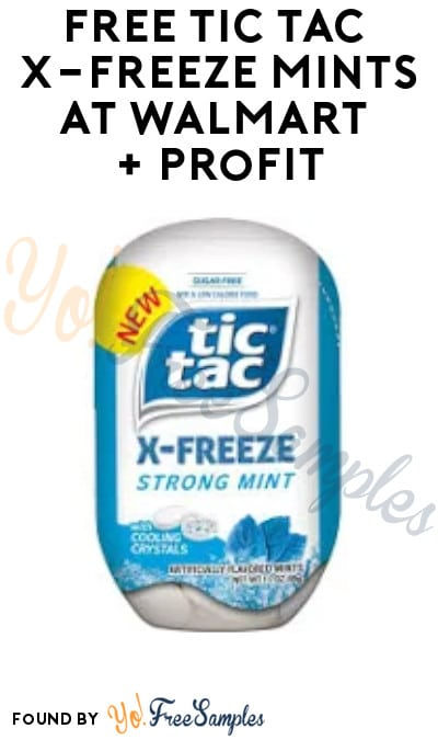 FREE Tic Tac X-Freeze Mints at Walmart + Profit (Coupon & Ibotta Required)