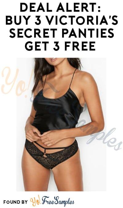 DEAL ALERT: Buy 3 Victoria's Secret Panties Get 3 FREE (Online Only + Code Required)