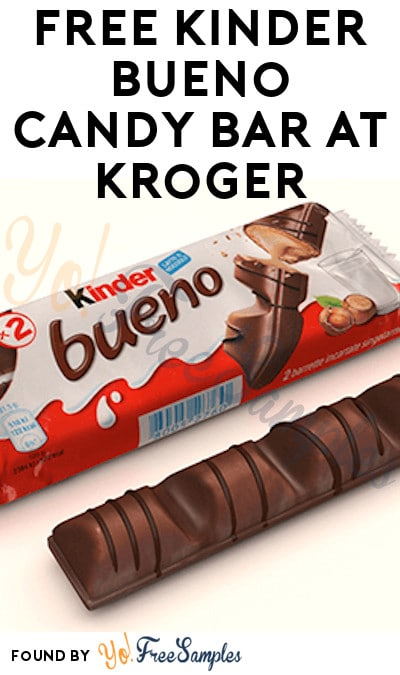 TODAY ONLY: FREE Kinder Bueno Candy Bar at Kroger, Fry's, Ralphs, Dillons, Mariano's & Others