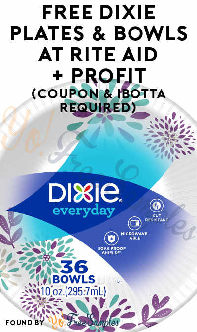 2 FREE Dixie Plates & Bowls at Rite Aid+ Profit (Coupon & Ibotta Required)