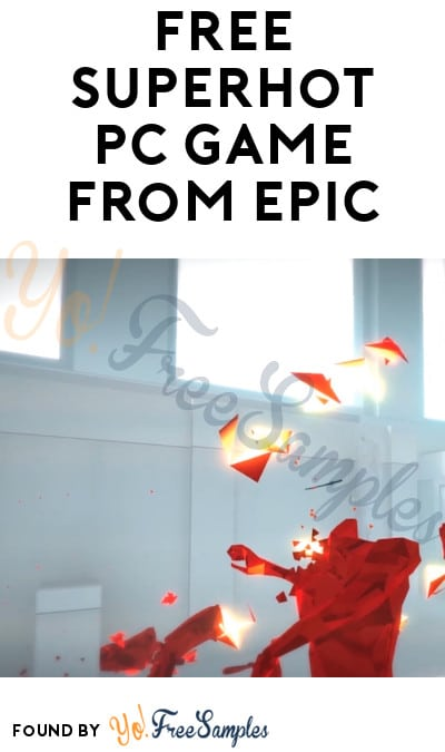 FREE Superhot PC Game from Epic Games (Account Required)