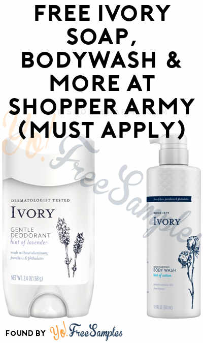 FREE Ivory Soap, Bodywash & More At Shopper Army (Must Apply)