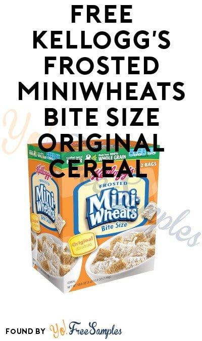 FREE Kellogg's Frosted MiniWheats Bite Size Original Cereal
