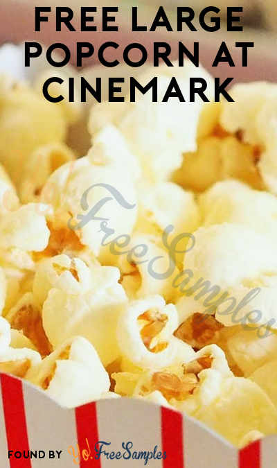 FREE Large Popcorn At Cinemark