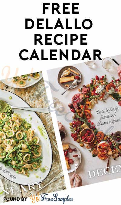 FREE DeLallo 2020 Recipe Calendar