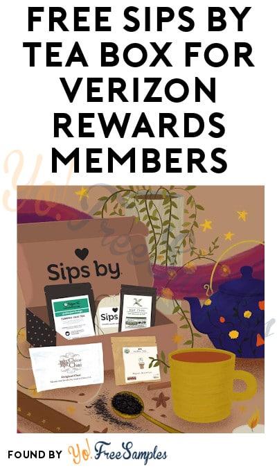 FREE Sips by Tea Box For Verizon Rewards Members