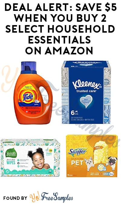 DEAL ALERT: Save $5 When You Buy 2 Select Household Essentials on Amazon