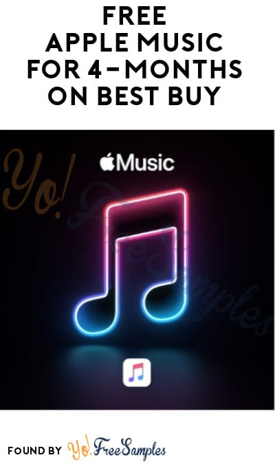 FREE Apple Music for 4-Months on Best Buy (New Subscribers Only)