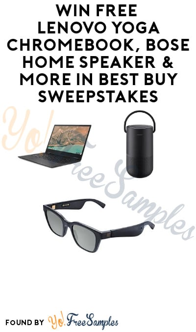 Enter Daily: Win FREE Lenovo Yoga Chromebook, Bose Home Speaker & More in Best Buy Sweepstakes (Twitter Required)