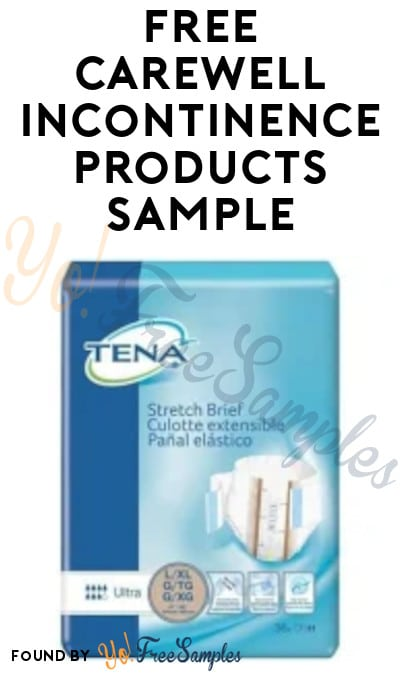 FREE Carewell Incontinence Products Sample