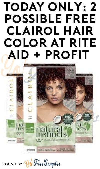 TODAY ONLY: 2 Possible FREE Clairol Hair Color at Rite Aid + Profit (Account & Clearance Price Required)