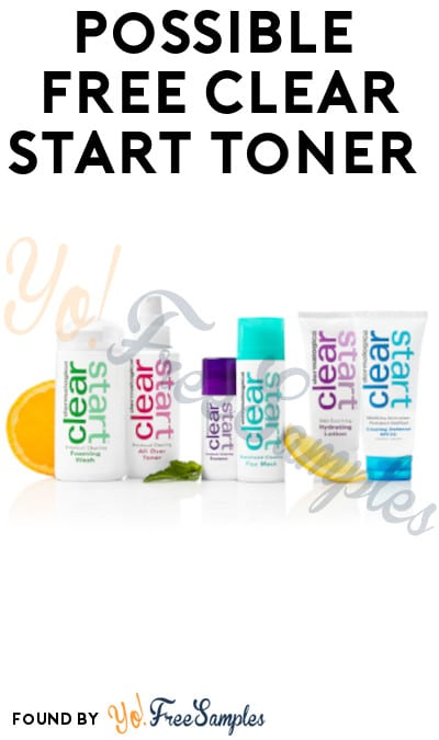 Possible FREE Clear Start Toner (Facebook Required)