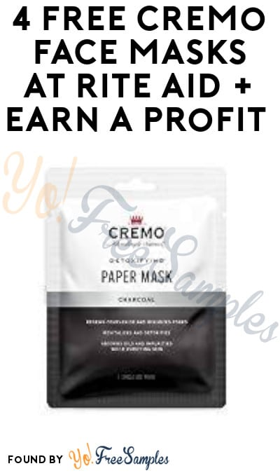 4 FREE Cremo Face Masks at Rite Aid + Earn A Profit (Wellness+ & Checkout51 Required)