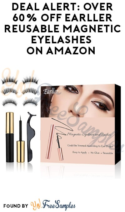 DEAL ALERT: Over 60% Off Earller Reusable Magnetic Eyelashes on Amazon (Clippable Coupon + Code Required)