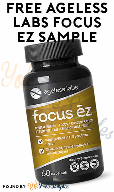 FREE Ageless Labs Focus EZ Sample