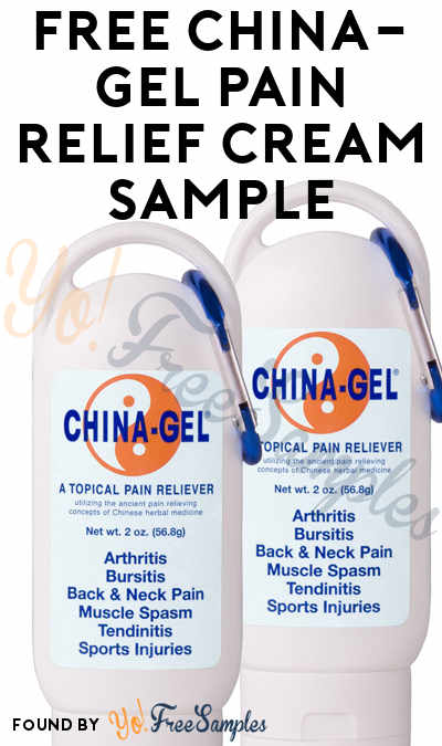 FREE China-Gel Pain Relief Cream Sample